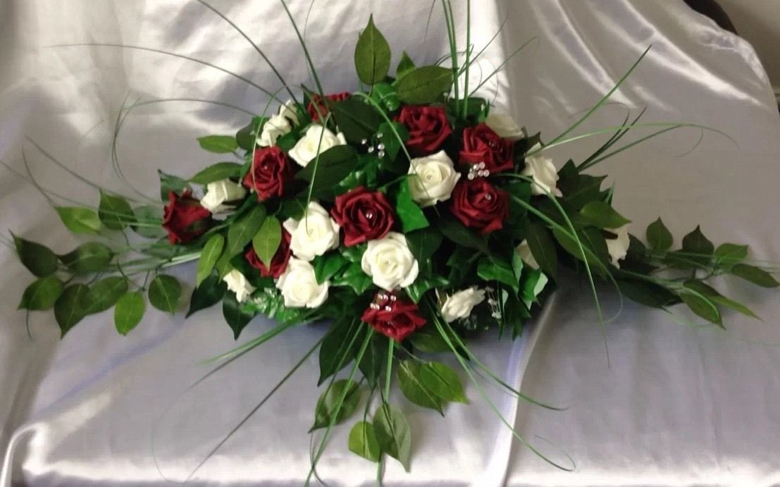 Artificial wedding flowers top table decoration spray