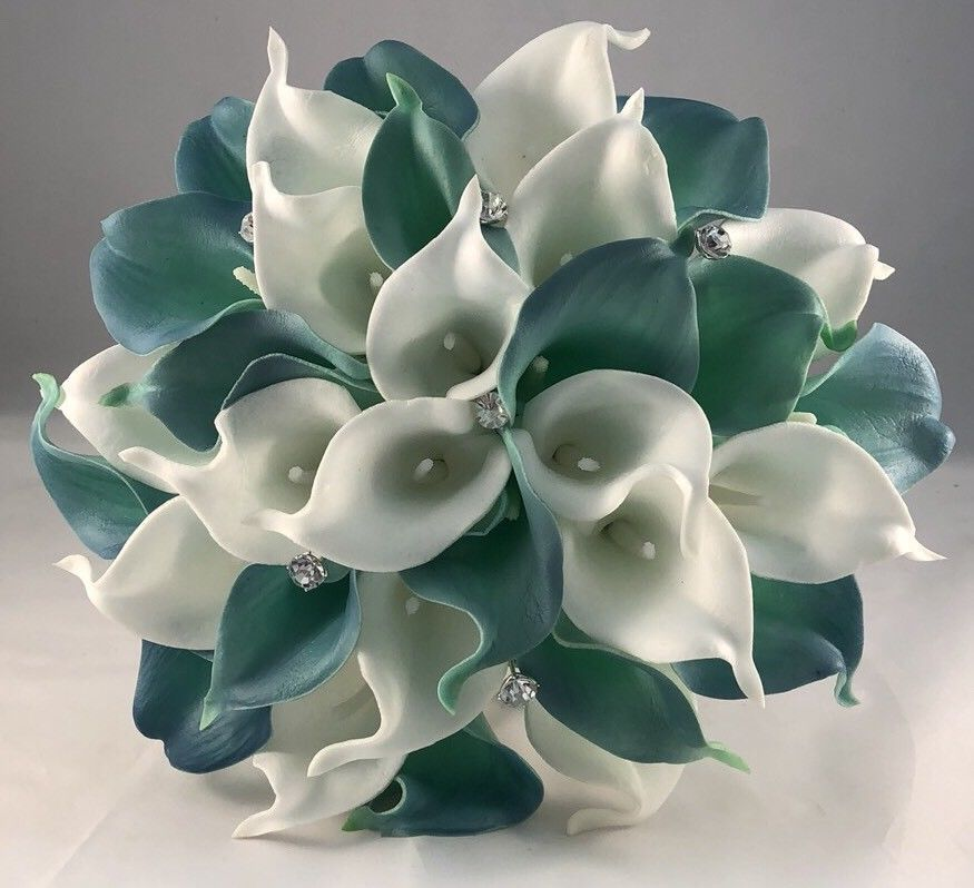 Wedding Flowers Artificial Calla Lily Bride Bouquet White