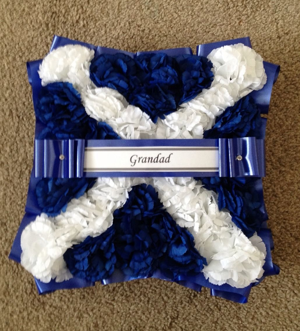 Artificial funeral flowers silk wreath memorial grave scottish flag izmirmasajfo