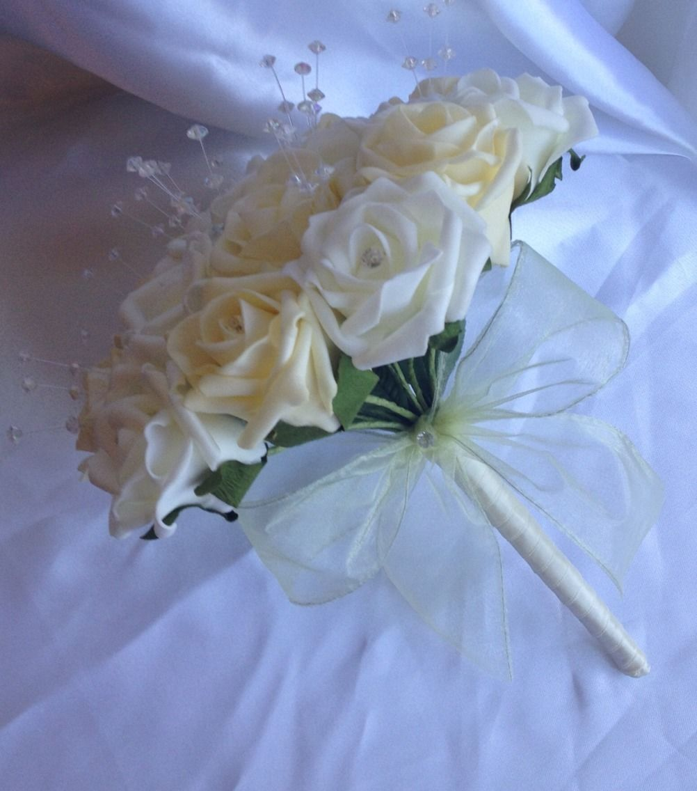 Ivory Flowers For Wedding Bouquets