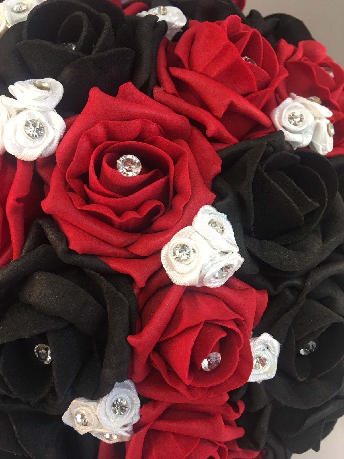 Wedding Supplies Home Furniture Diy Bridesmaid Black White Wedding Flowers Foam Rose Wedding Bouquet Posie Pettumtrampolines Es