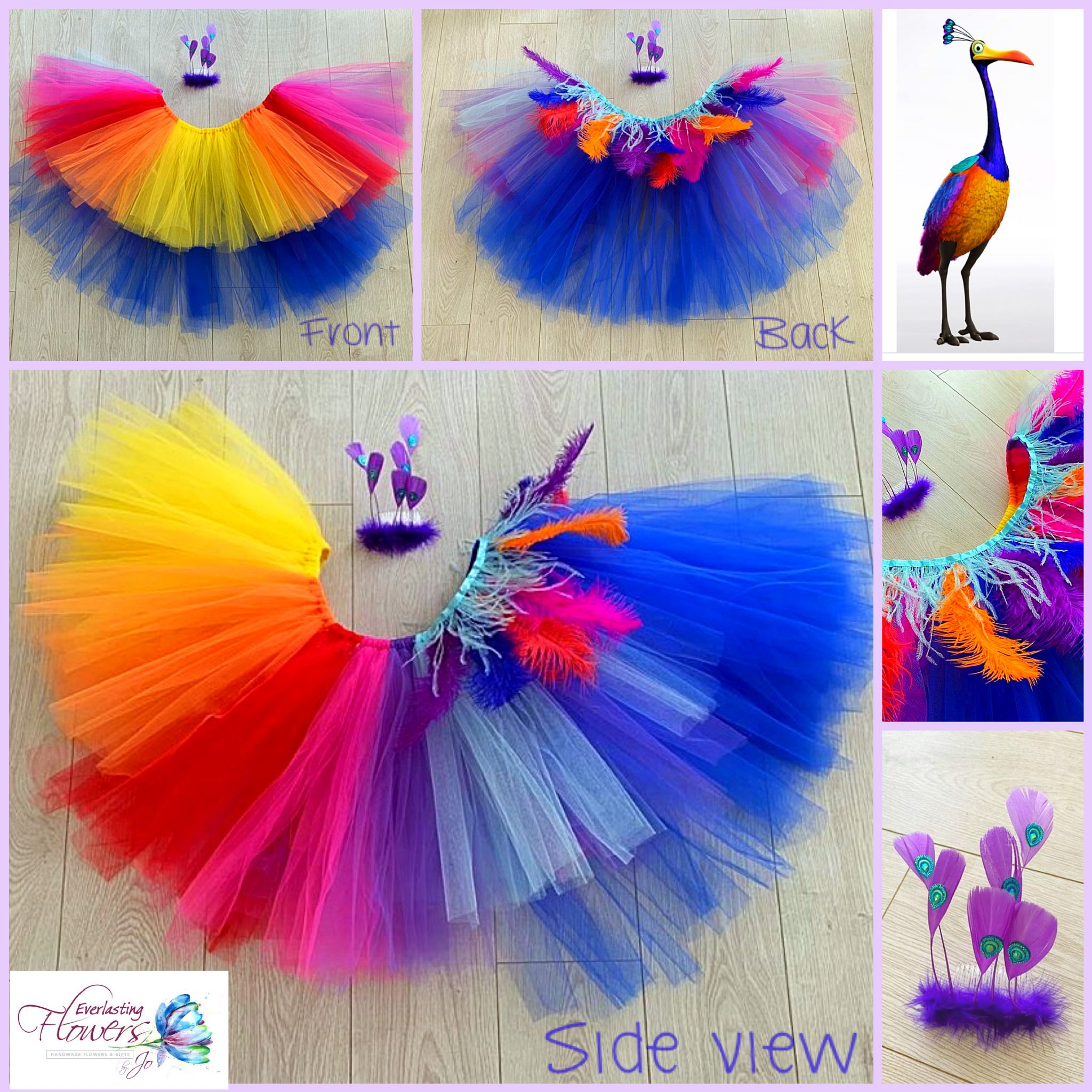 Tutu Bird Tulle Skirt Head Set Dress Up